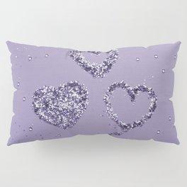Ultra Violet LOVE Glitter Hearts #1 #shiny #decor #art #society6 Pillow Sham