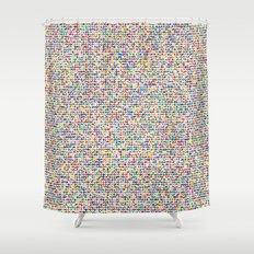 Cuben mini cube grid Shower Curtain