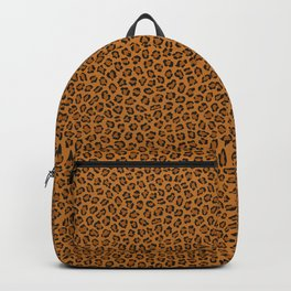 Dark leopard animal print Backpack