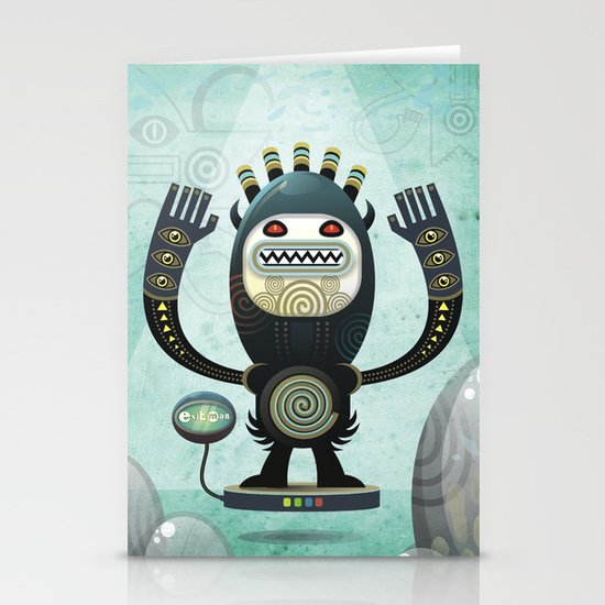 Alien Guard Stationery Cards