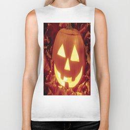 Halloween 🎃 Carved Lighted Pumpkin Biker Tank