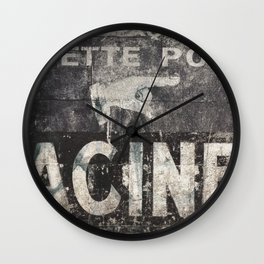 Old sign Wall Clock