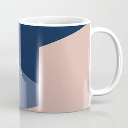 Pink and Blue Minimalist Shapes Coffee Mug