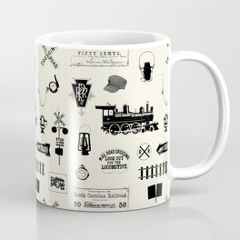 Railroad Symbols // Beige Coffee Mug