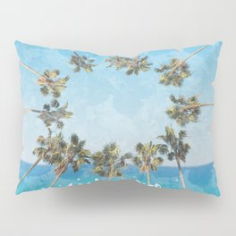 hello summer palm trees design 2 Pillow Sham