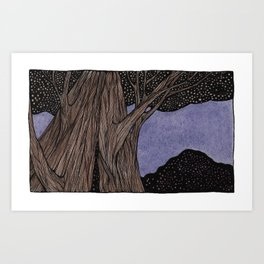 Night Tree Art Print
