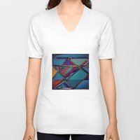 urban V-neck T-shirts featuring Urban by Julia Tomova
