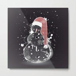 cute snowman Metal Print