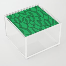 Overlapping Leaves - Dark Green Acrylic Box