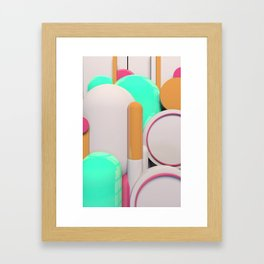 Capsules Framed Art Print