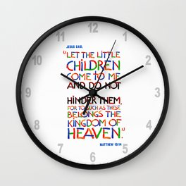 Let the little children come to me Wall Clock