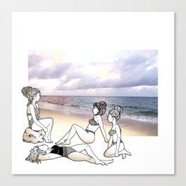 Girlfriends at the Beach Canvas Print