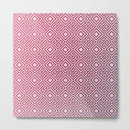 Magenda Geometric Pattern Metal Print