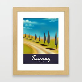 Tuscany Italy travel poster Framed Art Print