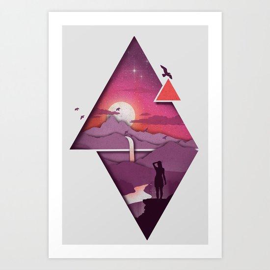 Landforms Art Print