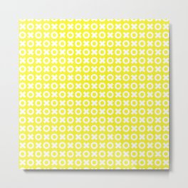 XOXO ((sunshine yellow)) Metal Print