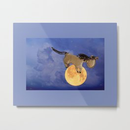 The Horse Jumped Over the Moon Metal Print