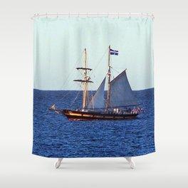 Quebec Sailboat Shower Curtain