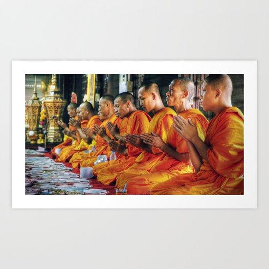 Monastery - Bangkok - Thailand Art Print