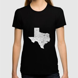 Texas White Map T-shirt