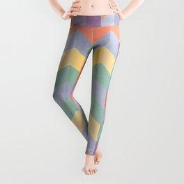 Colorful geometric blocks Leggings