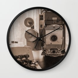 Polaroid antique flavor (sepia) Wall Clock
