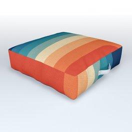 Retro 70s Color Palette III Outdoor Floor Cushion