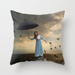 The Spectator of Fredom Throw Pillow