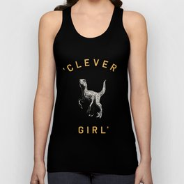 Clever Girl (Dark) Unisex Tank Top