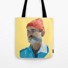 Steve Zissou low poly portrait Tote Bag
