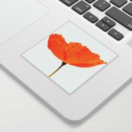 One And Only - Orange Poppy White Background #decor #society6 #buyart Sticker