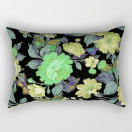 july roses & butterflies Rectangular Pillow