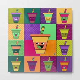 Kawaii Pop Drink Metal Print