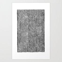 Stockinette Black Art Print