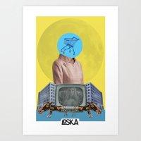 bubble Art Prints featuring Bubble by LOSKA