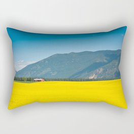 Canola farm Rectangular Pillow