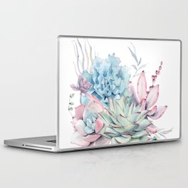 Pretty Pastel Succulents Laptop & iPad Skin