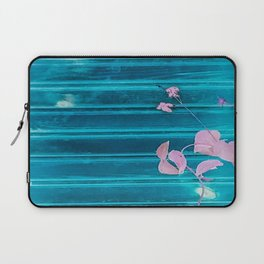 blue wooden wall pink jasmine minimal Laptop Sleeve