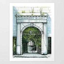 Old Stockbridge Market, Edinburgh Art Print