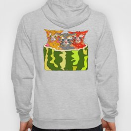Cats in Watermelon Jacuzzi - Tropical Hoody
