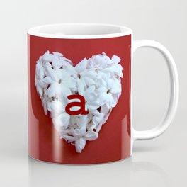 Red Monogrammed Heart A Coffee Mug