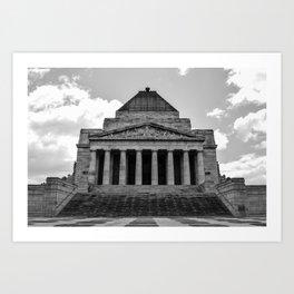 Shrine of Remembrance Art Print