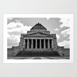 Shrine of Remembrance Art Print