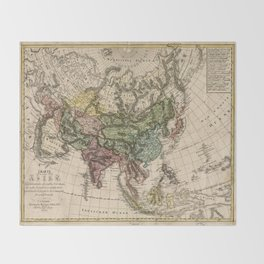 Charte van Asien (Map of Asia) 1805 Throw Blanket
