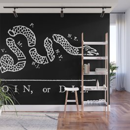 Join or Die in Black and White Wall Mural