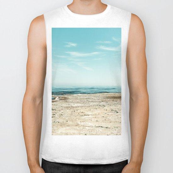 Sand beach Ocean Biker Tank