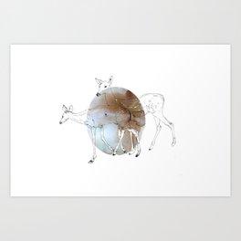 damaged fawns Art Print