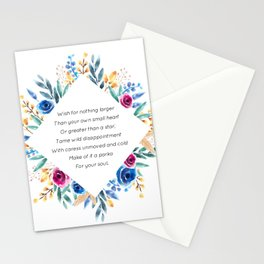 your own small heart - A. Walker Collection Stationery Cards