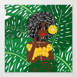 Tropical Gal Canvas Print