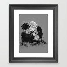The Friendly Visitor Framed Art Print